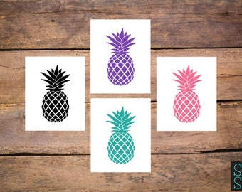Pineapple decal, pineapple sticker