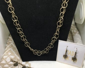 Gold Jewelry Set - Circles // Gifts for Her // Holiday Present