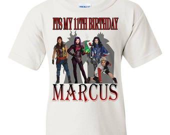 Descendants Birthday Shirt, Teen Birthday Shirt, Tween Shirt, Descendant Tshirt, Descendants Party Shirt, Descendants Family Shirt,