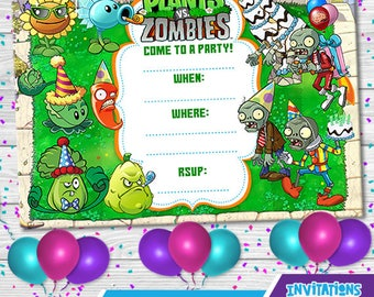 Plants vszombies invitation template plants vs zombies etsy maxwellsz