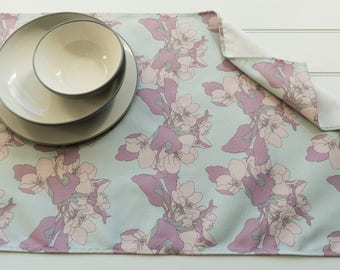Tea Towel in Apple Blossom Sky Pattern Made from 100% Cotton
