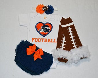 denver broncos baby girl outfit - baby girl broncos outfit - girls broncos football outfit - broncos baby gift  denver broncos football baby