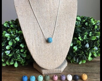 Essential Oil Diffuser Necklace-all lava bead colors included