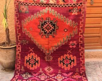 Vintage Boujad carpet, moroccan carpet,Boujad rug, vintage carpet, 300x160cm,berber textiles, berber carpet,