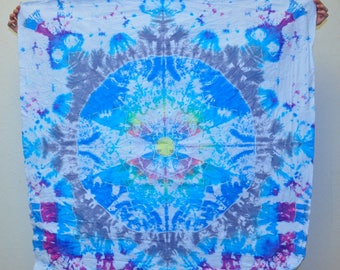 kaleidoscope mandala tie dye tapestry bedroom decor St Patricks day Gift for him Psychedelic alien wall hanging decor 120x120 cm 47x47""