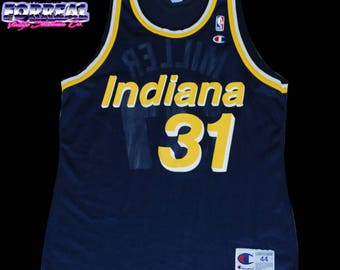 Authentic Vintage 90's Champion Indiana Pacers Reggie Miller #31 NBA Jersey