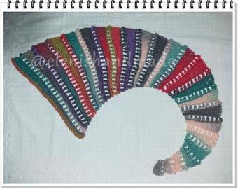 Crochet scarf PATTERN, Thin to wide mix stitch scarf, crochet scarf, written-pattern, Unique Scarf, Instant Download, PDF Pattern