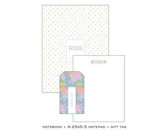 Set of Notepad + Gift Tags + Notebook