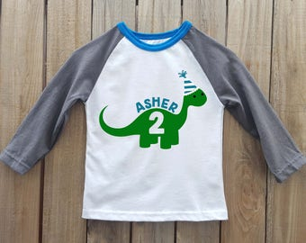 dinosaur birthday shirt, boys dinosaur birthday shirt, dinosaur shirt, dinosaur birthday, dinosaur party, boys birthday shirt, raglan shirt