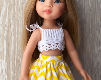 Clothes for Corolle Les Cheries, Paola Reina Doll Skirt Zigzag