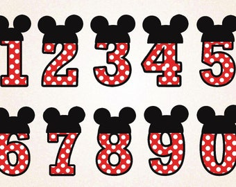 Mickey Mouse Cake Topper Template