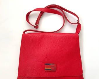 Bzero bag red leather shoulder Bag 01