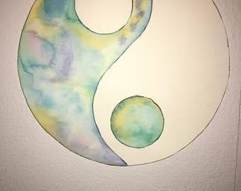 Ying Yang Watercolor