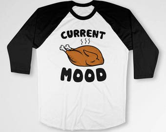 Funny Thanksgiving T Shirt Thanksgiving Outfit Holiday TShirt Turkey Day Shirt Holiday Present Thanksgiving Gift Baseball Raglan Tee TEP-455