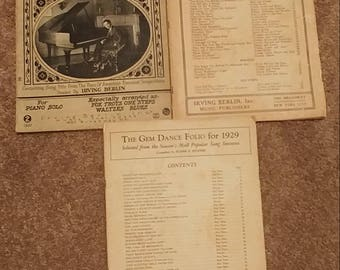 Three books of piano music all from the 1920's