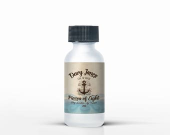 Beard Grooming- Beard Oil for natural beard care- 1 oz. bottle, for men's grooming- Pieces of Eight (Leather)