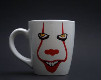 Hand Painted Pennywise the Dancing Clown Mug, Pennywise 2017, Stephen King, Stephen Kings IT, Horror Mug, Losers Club, Derry Maine
