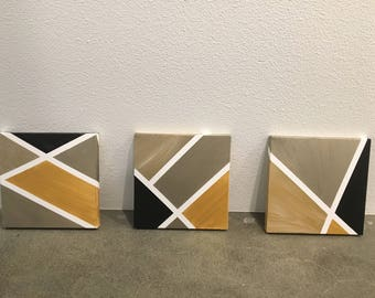 Abstract Graphic Paintings - Set of 3
