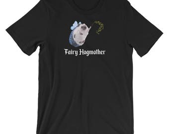 Cute Hedgehog Tee | Fairy Hogmother | Hedgehog Gift | Short-Sleeve Hedgehog T-Shirt of Your Dreams by Urchin Wear | Indy Art