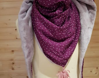 Adult, purple, scarf, Snood fleece, cotton scarf