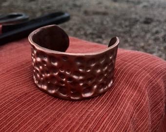 copper bracelet, polished finish