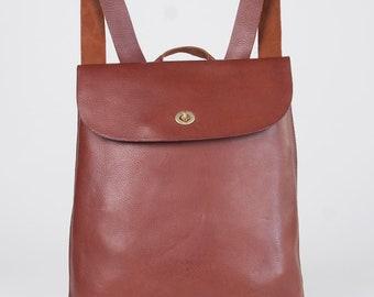 Tan leather rucksack women / leather backpack women / small women's leather backpack / small leather rucksack / Jenny rucksack