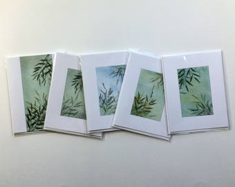 SALE! Set of 5 blank cards, original artwork, not reproductions, fine cards, note cards, SKU BLA2SET8