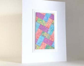 Easter card, quilt design individually made from hand-painted paper, A6, SKU ESA61001