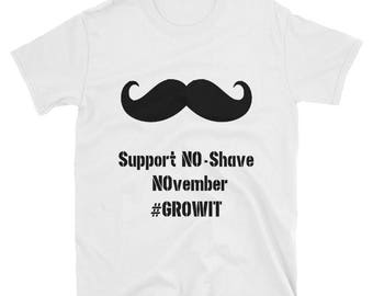 No-Shave NOvember Support The Mustache T-shirt