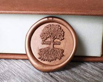 Custom with tree wax stamp kit, Personalized tree wedding wax seal, wedding gift, family gift, party wax seal stamp set