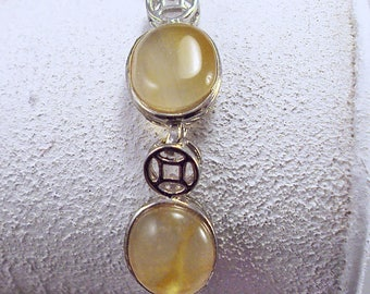 "Lovely Classical Silvertone Agate Bracelet 7.5""-9.5"""