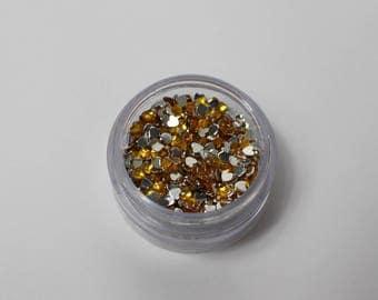 3.8 g Rhinestone Heart 3 mm orange has stick (about 1140 rhinestone)