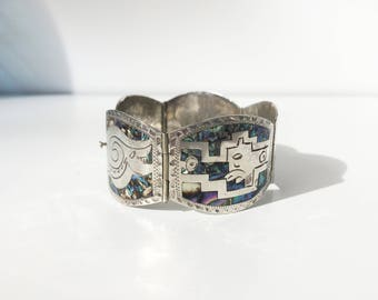 TAXCO MEXICO silver bracelet silver and abalone