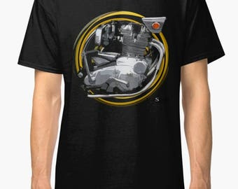 B.S.A. Rocket 3 inspired Motorcycle engine TShirt INISHED Productions