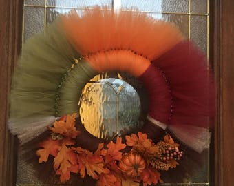 Fall Tulle Ring Wreath