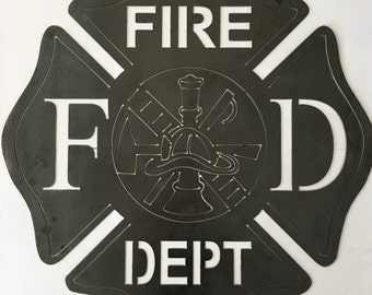 Fire Department Maltese Cross Wall Art