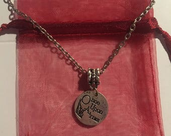 Once Upon A Time Circle Pendant Charm Necklace