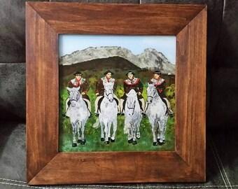 "Polish handicraft (reverse glass painting) ""Banderia"""