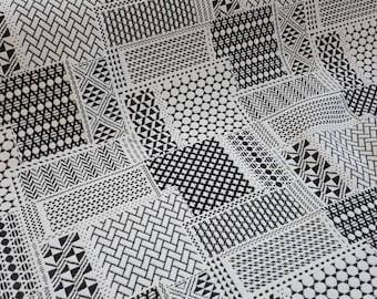 Fabric 50cm x 150cm - Patch B & W