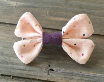 Baby girl bow on nylon headband or hair clip
