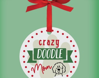 Custom Doodle Ornament, Personalized Dog Christmas Ornament, Pet owner christmas, ,personalized gift for pet lovers, friends, family