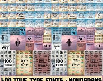 400 Monogram, SVG Files, Cricut Cut Files, Circle monogram, Digital Fonts, Digital Script Font, Digital Paper, Modern Style Fonts.