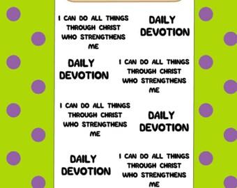 Daily Devotional | Words Sheet