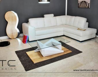 The SILVER coffee table-Design unique- Made in Italy-