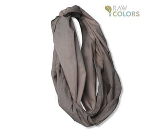 Infinity Scarf - Hand Dyed Cotton with Eucalyptus Bark