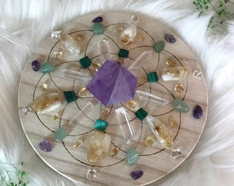 15cm Success and Prosperity Complete Set of Crystal Grid