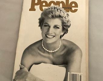 1997 Tribute Princess Diana People Magazine. Vintage 1997 People Magazine Princess Diana. Princess Diana People Magazine Tribute.