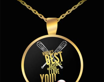 WORLD'S BEST Baseball Girlfriend! Gold Plated Necklace