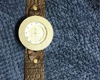 Custom top grade leather watch band