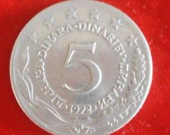 5 Dinars - 1972 - Former Yugoslavia